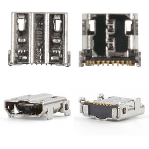 Charge Connector for Samsung I337, I545, I9500 Galaxy S4, M919, N7100 Note 2 Cell Phones, (11 pin, micro USB type-B)