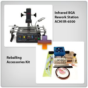 Infrared BGA Rework Station ACHI IR-6500 + Reballing Accessories Kit