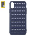 Case Baseus compatible with iPhone X, iPhone XS, (dark blue, braided, plastic) #WIAPIPH58-BV03