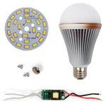 Juego de piezas para armar lámpara LED SQ-Q24  12 W (luz blanca cálida, E27)