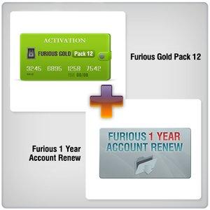 Продление доступа в зону поддержки Furious на 1 год + Furious Gold Pack 12