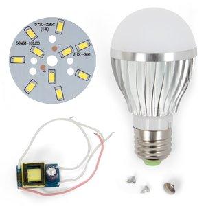 Комплект для сборки светодиодной лампы SQ-Q02 5730 5 Вт (холодный белый, E27)