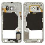 Средняя часть корпуса Samsung G920FD Galaxy S6 Duos, белая