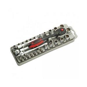 Набор насадок Pro'sKit SD-2308M с трещоткой и длинногубцами