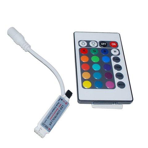 Контролер з ІЧ пультом для світлодіодної RGB стрічки 3528 5050 5630 12 В, 6 А