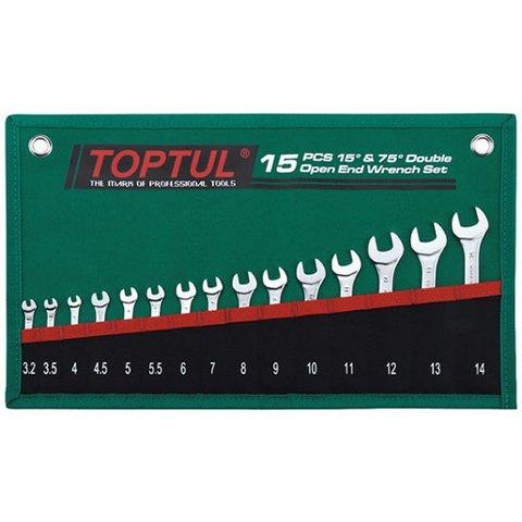 Набір гайкових ключів TOPTUL GRAJ1501 15 шт.